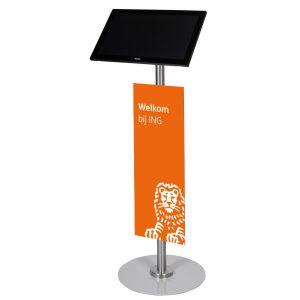 S-serie Tablet vloerstandaard ST18 ING Bank - Digitale infozuil